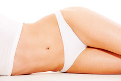 Woman's body in white underwear Stock Photo