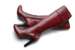 Woman's boots isolated Royalty Free Stock Images