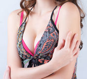 Woman's breast Stock Photo