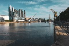 Woman`s bridge in Buenos Aires, Argentina royalty free stock photography