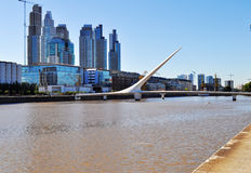 Woman's Bridge in Puerto Madero. Buenos Aires Stock Photo