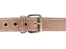 Woman's Brown Leather Belt Stock Photo