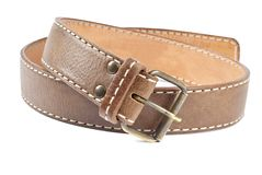 Woman's Brown Leather Belt Stock Photography