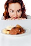 Woman's cravings Royalty Free Stock Photography