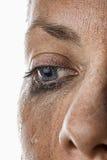 Woman's Crying Eye Royalty Free Stock Photo