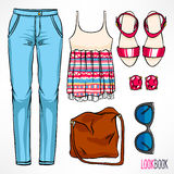 Woman's cute summer outfit Stock Photo