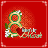 Woman's day background Stock Image