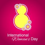 Woman's Day 2. 8 march International Women's Day card with floral elements. Vector illustration Royalty Free Stock Photo