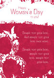 Woman's Day Postcard Stock Photo