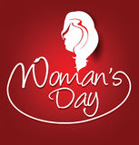 Woman's day text background vector. Illustration Stock Photo