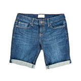 Woman's Denim Shorts Stock Photography