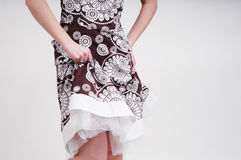 Woman's Dress. Fashion shot of woman holding dress Stock Photos