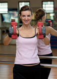 Woman's Dumbell Workout Royalty Free Stock Photos