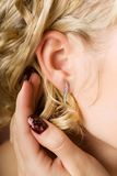 Woman's ear Royalty Free Stock Image
