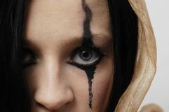 Woman's eye. Gothic style serie Royalty Free Stock Images