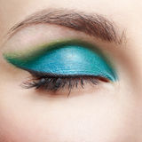 Woman's eye zone makeup Royalty Free Stock Photo