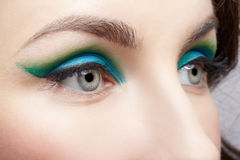 Woman's eye zone makeup Royalty Free Stock Images
