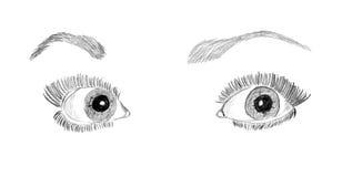 Woman's eyes Royalty Free Stock Image