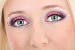 Woman's eyes with creative make-up Royalty Free Stock Images
