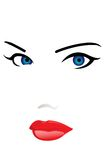 Woman's face. The Woman's face. A vector. Without mesh Stock Photos