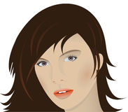 Woman's face. Royalty Free Stock Photo
