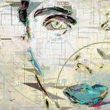 Woman`s face stock illustration