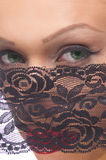 The woman's face with beautiful eyes Stock Photo