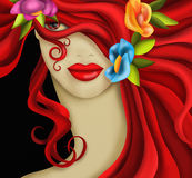 Woman's face with carnival mask Royalty Free Stock Photography