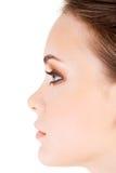 Woman's face closeup. Stock Images
