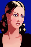 Pretty Womans Face. A digital illustration of an attractive woman Stock Photography
