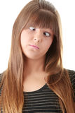 Woman's Face with a extreme grimace. Stock Photography