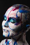Woman face with paint royalty free stock photos