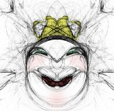 Woman's face sketch Stock Photography