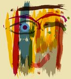 Abstract woman. Woman's face ,smiling, abstract illustration Stock Photos