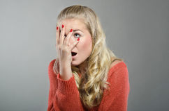 Woman's Facepalm Royalty Free Stock Image