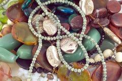 Woman's fashion jewelry closeup Stock Image