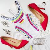 Woman`s fashion outfit. Stock Image