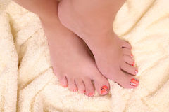 Woman's feet Stock Photos