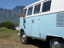 Free Woman S Feet Sticking Out Of Campervan Window Royalty Free Stock Photo - 33903675