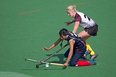 Woman's field hockey Stock Photo