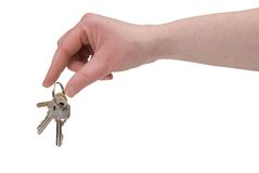 Woman's fingers with keys Stock Photo