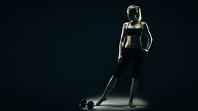 Woman's fit silhouette Stock Image