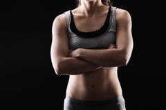 Woman's fitness royalty free stock images