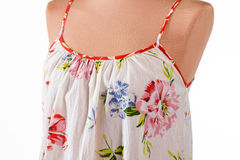 Woman's floral pattern summer top. Stock Photos