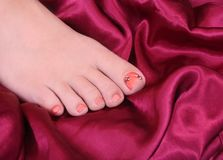 Woman's foot Stock Photography