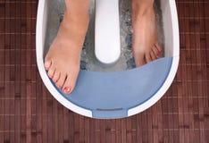 Woman's footin home spa Royalty Free Stock Photo