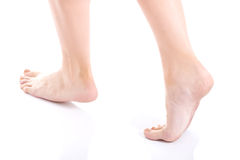 Woman's fresh clean feet with pedicure. Stock Image