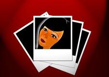 Woman s Gesicht Stockfotos