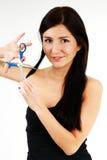 Woman's Hair cut Royalty Free Stock Image