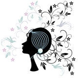 Woman's hair style Royalty Free Stock Photography
